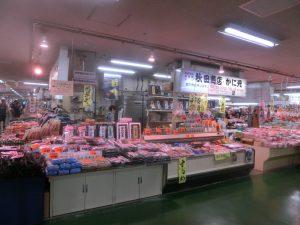 さまざまな食材が売られている