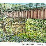 空知川に架かる鉄橋